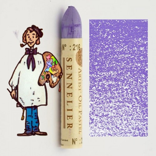 Pastel al óleo Sennelier violeta de parma 216. Oil Pastel