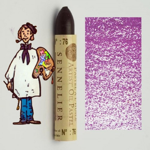 Pastel al óleo Sennelier laca alizarina violeta 076. Oil Pa