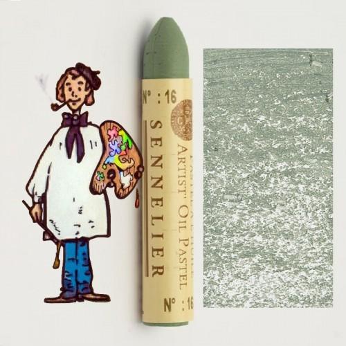 Pastel al óleo Sennelier gris verde 016. Oil Pastel