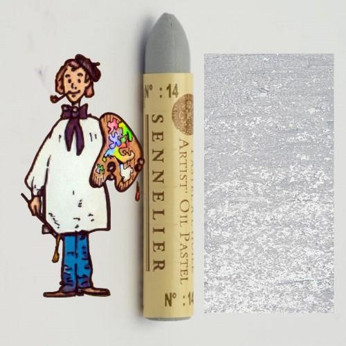 Pastel al óleo Sennelier gris palido 014. Oil Pastel
