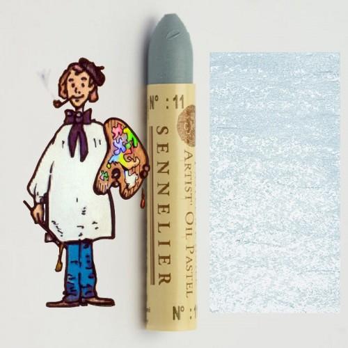 Pastel al óleo Sennelier azul grisaceo 011. Oil Pastel