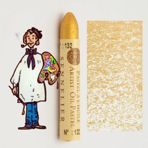 Pastel al óleo Sennelier perla dorado 132. Oil Pastel