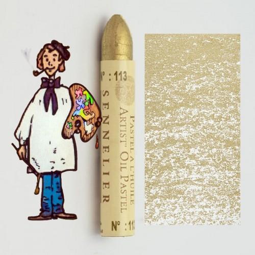 Pastel al óleo Sennelier oro rico pálido 113. Oil Pastel
