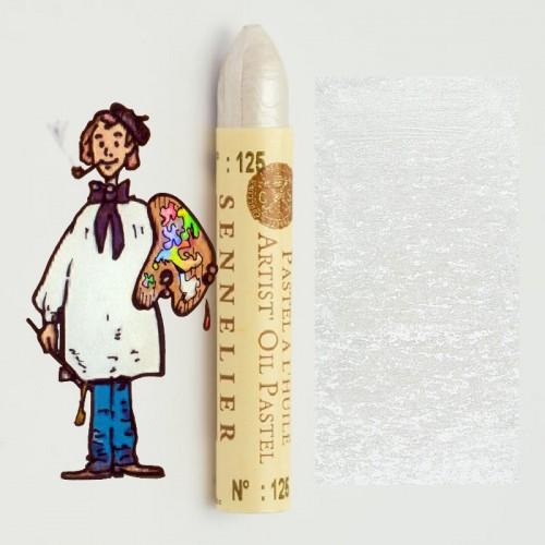 Pastel al óleo Sennelier blanco iridescente 125. Oil Pastel