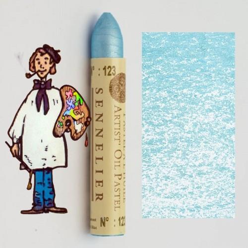 Pastel al óleo Sennelier azul transparente 123. Oil Pastel
