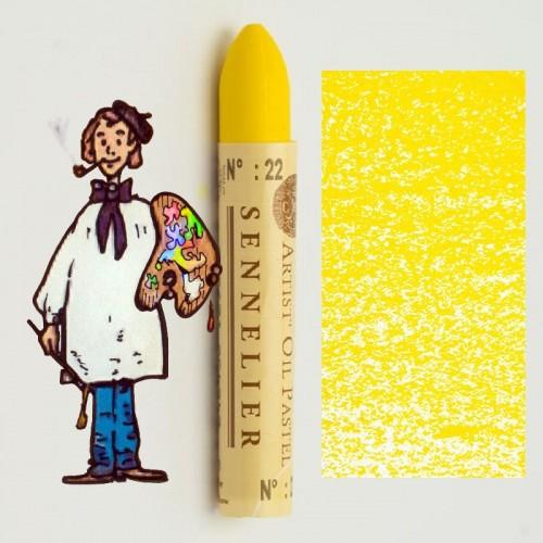 Pastel al óleo Sennelier amarillo dorado 022. Oil Pastel