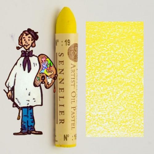 Pastel al óleo Sennelier amarillo limón 019. Oil Pastel