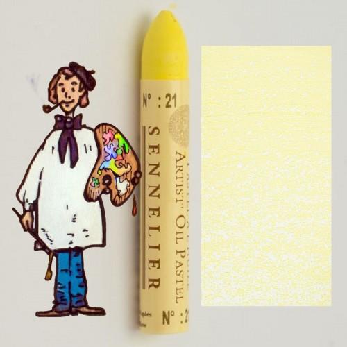 Pastel al óleo Sennelier amarillo Nápoles 021. Oil Pastel