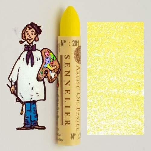 Pastel al óleo Sennelier amarillo nickel 201. Oil Pastel