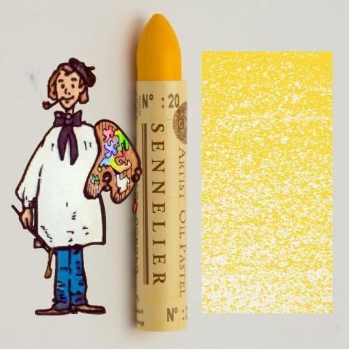 Pastel al óleo Sennelier amarillo oscuro 020. Oil Pastel