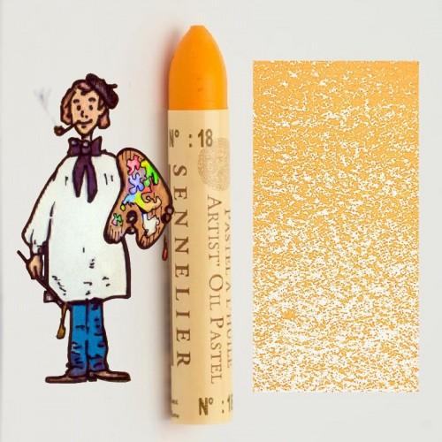 pastel al óleo Sennelier amarillo brillante 018. Oil Pastel
