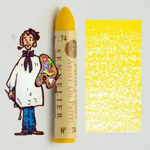 Pastel al óleo Sennelier laca amarilla 074. Oil Pastel