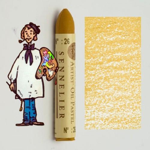 Pastel al óleo Sennelier ocre amarillo 026. Oil Pastel