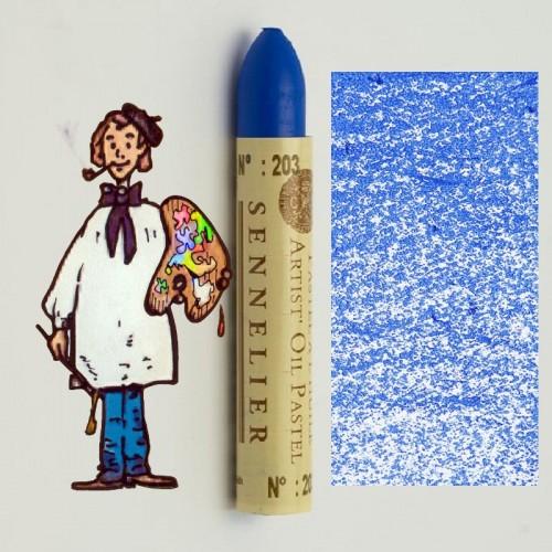Pastel al óleo Sennelier azul de Delft 203. Oil Pastel