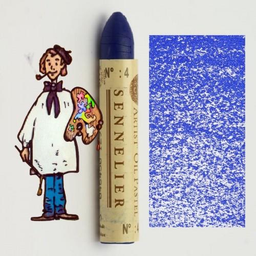 Pastel al óleo Sennelier azul cobalto 004. Oil Pastel