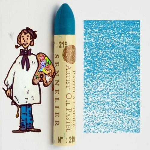 Pastel al óleo Sennelier azul celeste 219. Oil Pastel