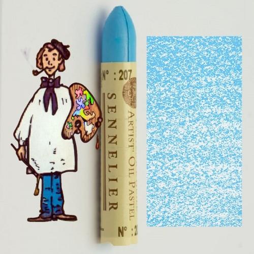 Pastel al óleo Sennelier azul ceniza 207. Oil Pastel