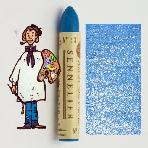 Pastel al óleo Sennelier azul ceruleo 003. Oil Pastel