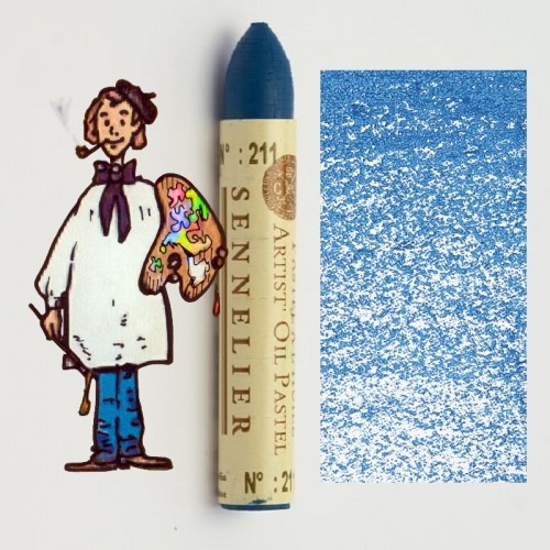 Pastel al óleo Sennelier azul de Berlin 211. Oil Pastel