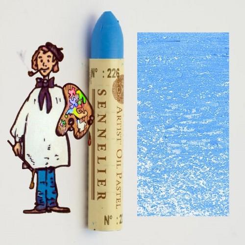 Pastel al óleo Sennelier azul cielo 226. Oil Pastel