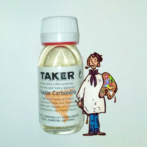 Fijador TAKER 60ml, para pastel y carboncillo