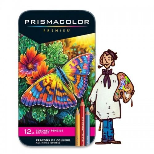 Caja metálica12 lápices de color Prismacolor Premier