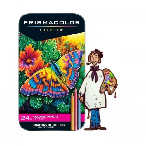 Caja metálica24lápices de color PrismacolorPremier