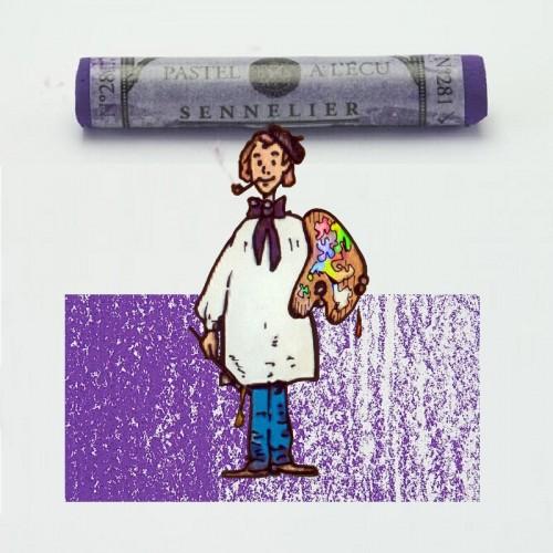 Pastel à l'écu púrpura azulado nº 281 Pastel à l'écu