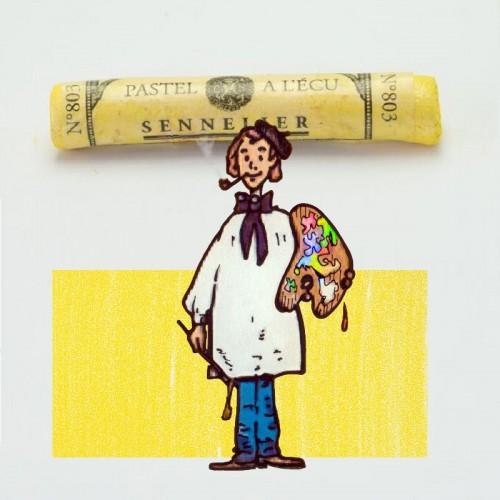 Pastel à l'écu iridiscente amarillo limón nº 803 Pastel à l'éc
