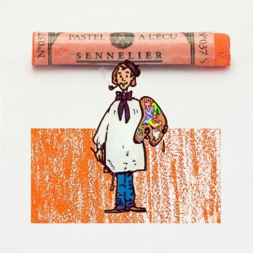Pastel à l'écu mina (Aspecto) anaranjada nº 37 Pastel à l'écu