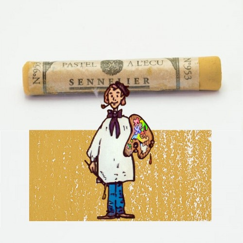 Pastel à l'écu amarillo (ambar) nº 953 Pastel à l'écu