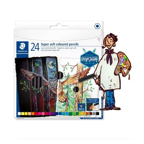Lápiz  color súper suave STAEDTLER Estuche  metal  24 lápices
