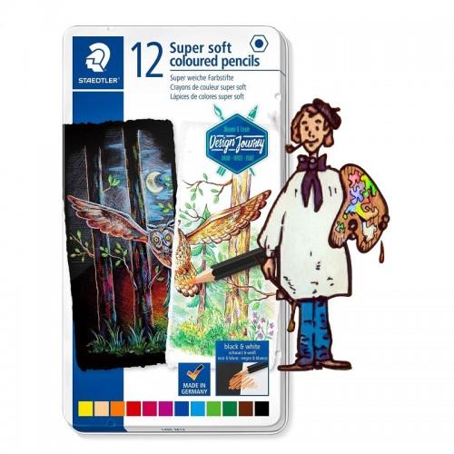 Lápiz de color súper suave STAEDTLER Estuche  metal  12 lápices