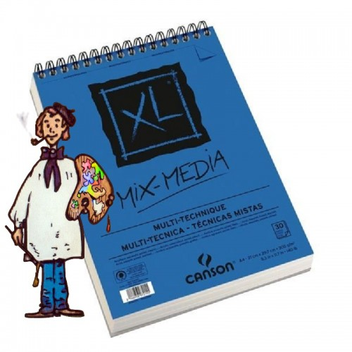 Bloc  Mix Media 300gr - A4 30h  Canson XL