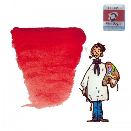Acuarela Van Gogh, godet - rojo permanente oscuro 371