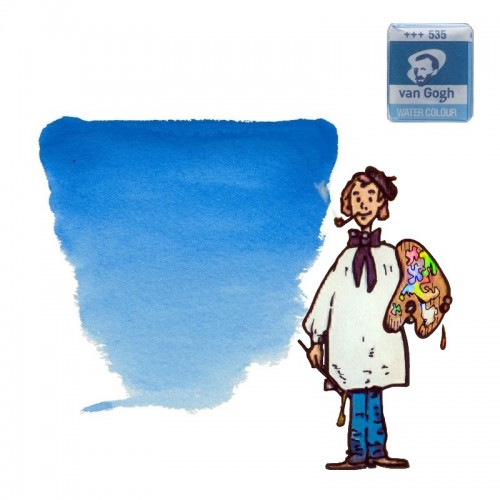 Acuarela Van Gogh, godet - azul ceruleo (ftalo) 535
