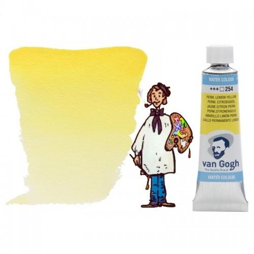 Acuarela Van Gogh, tubo - amarillo limón permanente 254