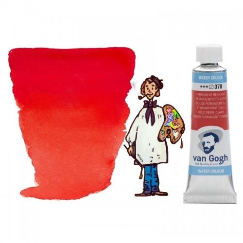 Acuarela Van Gogh, tubo - rojo permanente claro 370