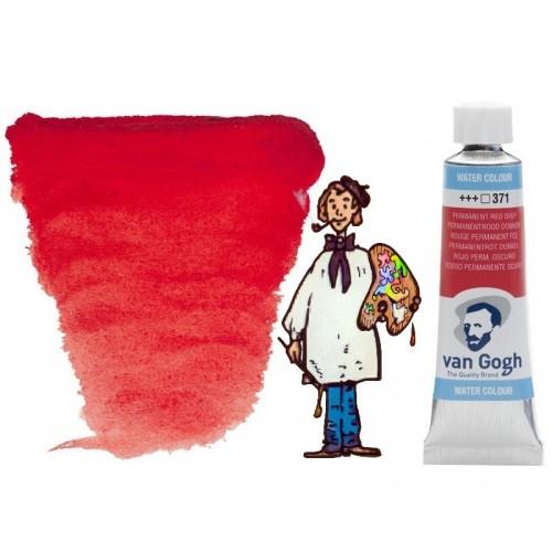 Acuarela Van Gogh, tubo - rojo permanente oscuro 371
