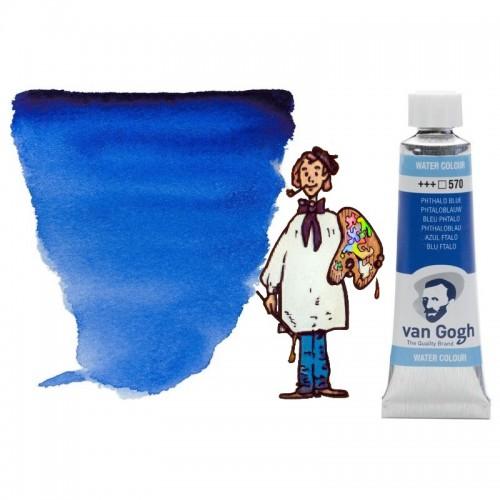 Acuarela Van Gogh, tubo - azul ftalo 570