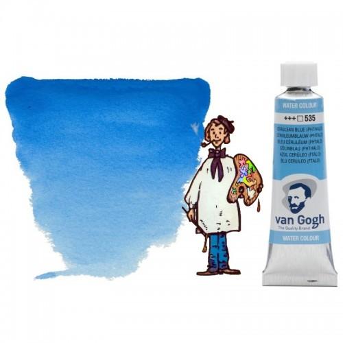 Acuarela Van Gogh, tubo - azul ceruleo (ftalo) 535