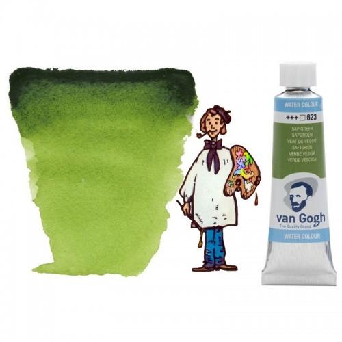 Acuarela Van Gogh, tubo - verde vejiga 623