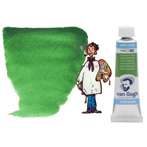 Acuarela Van Gogh, tubo - verde permanente 662