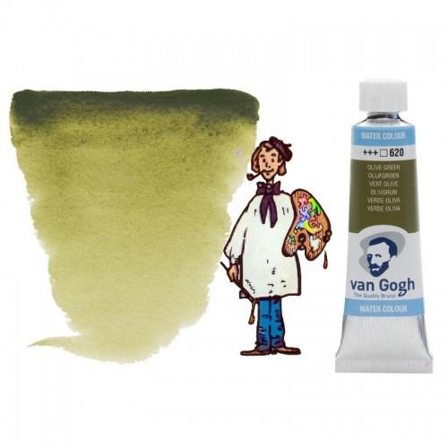 Acuarela Van Gogh, tubo - verde oliva 620