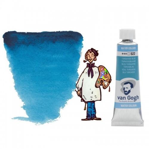 Acuarela Van Gogh, tubo - azul turquesa 522
