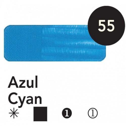 Óleo Goya 200 ml.  Azul Cyan 55