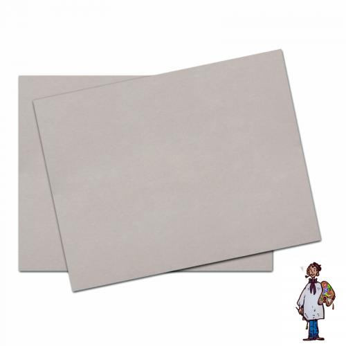 Cuatro planchas de Cartón Gris Contracolado 35x50cm -3mm