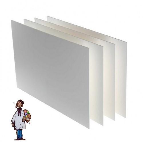 Cuatro planchas Cartón pluma 5mm 35x 50cm