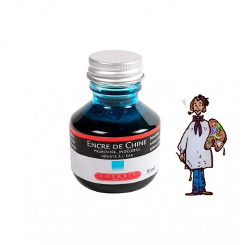 J Herbin Tinta China 50ml - TURQUESA