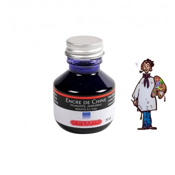 J Herbin Tinta China 50ml - AZUL REAL
